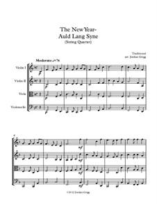 Auld Lang Syne: For string quartet by folklore