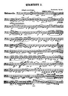 String Quartet No.1 in E Flat Major, Op.12: Cello part by Felix Mendelssohn-Bartholdy
