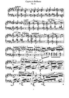 Capriccio Brilliant, Op.22: Piano part by Felix Mendelssohn-Bartholdy