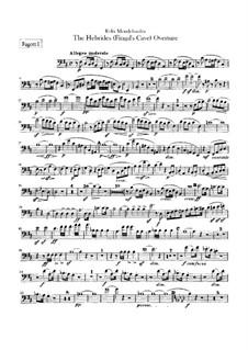 Die Hebriden oder Die Fingalshöhle (Hebrides Overture), Op.26: Bassoons part by Felix Mendelssohn-Bartholdy