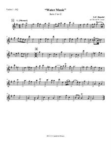 Suite No.3 in G Major, HWV 350: Version for string quartet – parts by Georg Friedrich Händel