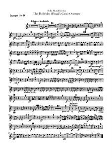 Die Hebriden oder Die Fingalshöhle (Hebrides Overture), Op.26: Trumpets part by Felix Mendelssohn-Bartholdy
