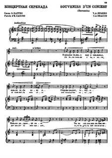Souvenirs d'un concert (Serenata): Souvenirs d'un concert (Serenata) by C.A Bracco