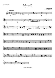 Ombra mai fu: Version for string quartet – parts by Georg Friedrich Händel