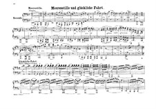 Meeresstille und glückliche Fahrt (Calm Sea and Prosperous Voyage), Op.27: For piano four hands by Felix Mendelssohn-Bartholdy
