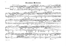 The Fair Melusina, Op.32: Version for piano four hands by Felix Mendelssohn-Bartholdy