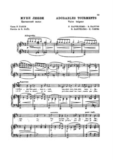 Adorables tourments (Valse tzigane): Adorables tourments (Valse tzigane) by Enrico Caruso, Riccardo Barthelemy