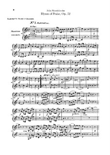 Symphony No.2 in B Flat Major 'Hymn of Praise', Op.52: Clarinets part by Felix Mendelssohn-Bartholdy