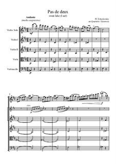 No.5 Pas de deux: Movement II, for string quartet by Pyotr Tchaikovsky