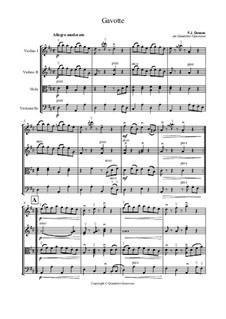 Gavotte in D Major: For string quartet by François Joseph Gossec