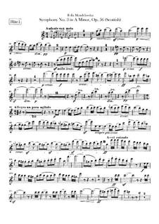 Symphony No.3 in A Minor 'Scottish', Op.56: Flutes parts by Felix Mendelssohn-Bartholdy