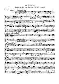 Symphony No.3 in A Minor 'Scottish', Op.56: Horns parts by Felix Mendelssohn-Bartholdy