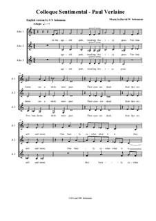 Colloque Sentimental (English version) for three alto voices: Colloque Sentimental (English version) for three alto voices by David W Solomons