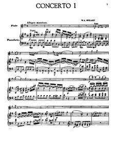 Concerto for Flute and Orchestra No.1 in G Major, K.313: Version for flute and piano by Wolfgang Amadeus Mozart