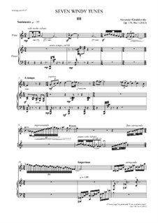 Seven Windy Tunes, Op.178: No.3 by Alexander Khodakovsky