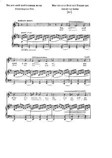 Wer nie sein Brot mit Tränen ass, S.297: Version II by Franz Liszt