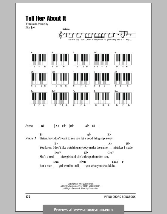 Tell Her About It: Lyrics and chords by Billy Joel