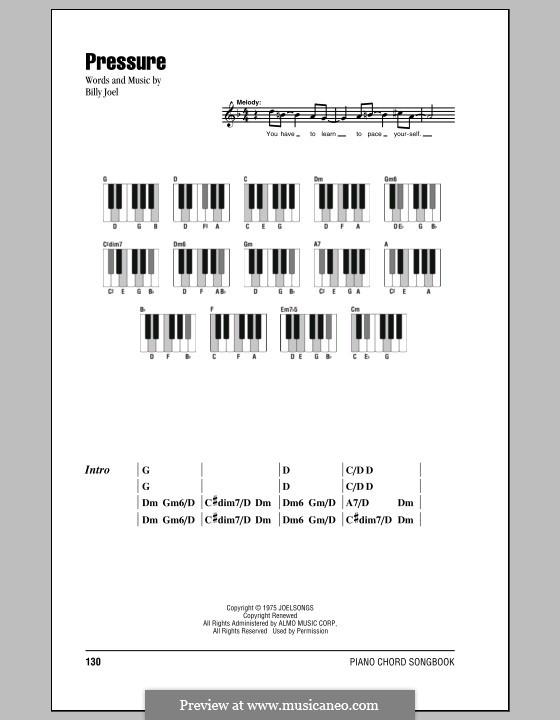 Pressure: Lyrics and chords by Billy Joel