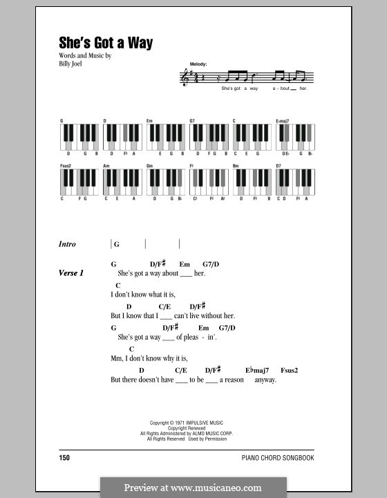 Shes Got A Way By B Joel Sheet Music On Musicaneo