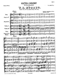 Concerto for Piano and Orchestra No.11 in F Major, K.413: Movement I by Wolfgang Amadeus Mozart