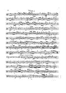 String Quartet No.17 in B Flat Major 'Hunt' , K.458: Viola part by Wolfgang Amadeus Mozart