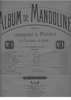 Ave Maria: For mandolin and piano by Luigi Luzzi