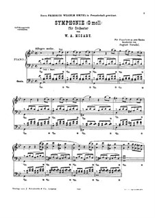 Complete Movements: Arrangement for piano by A. Stradal by Wolfgang Amadeus Mozart