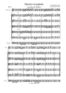 Thésée: Triumphal march (in D) by Jean-Baptiste Lully