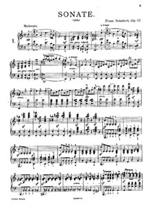 Sonata for Piano No.16 in A Minor, D.845 Op.42: Movements I, II by Franz Schubert