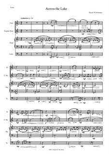 Across the Lake, for flute, cor anglais, harp and cello: Across the Lake, for flute, cor anglais, harp and cello by David W Solomons