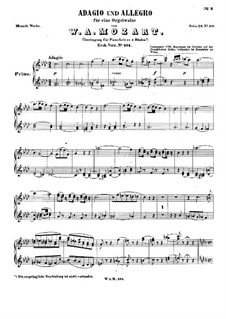 Fantasia for Mechanical Organ in F Minor, K.594: Version for piano four hands – piano I part by Wolfgang Amadeus Mozart