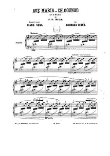 Ave Maria: For piano by Johann Sebastian Bach, Charles Gounod