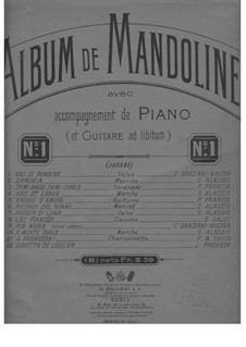 Pieces for Mandolin and Piano, Op.262: Raggio di Luna by Serafino Alassio