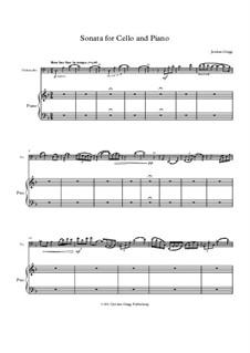 Sonata for Cello and Piano: Sonata for Cello and Piano by Jordan Grigg