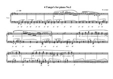 4 Tango's for piano: Tango No.1, MVWV 627 by Maurice Verheul