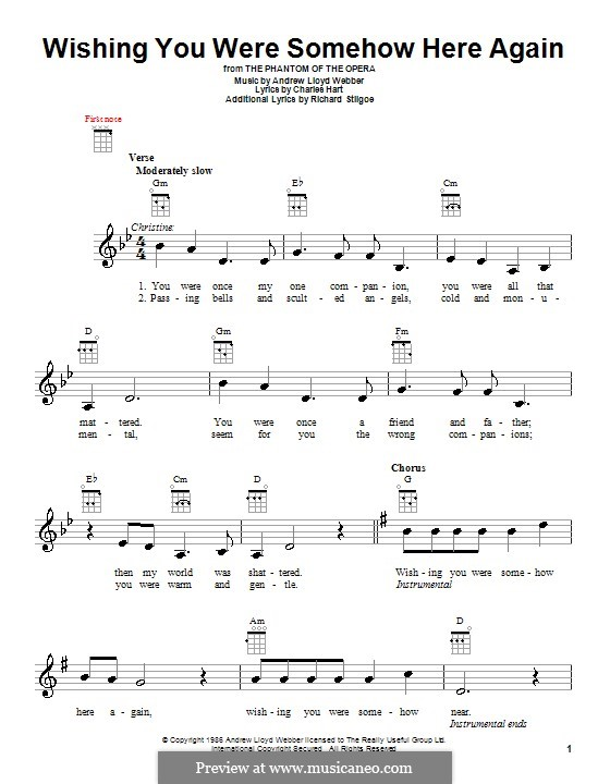 Wishing You Were Somehow Here Again: For ukulele by Andrew Lloyd Webber