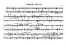 4 Tango's for piano: Tango No.2, MVWV 628 by Maurice Verheul
