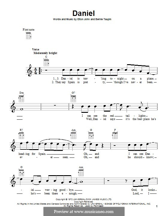 Daniel: For ukulele by Elton John