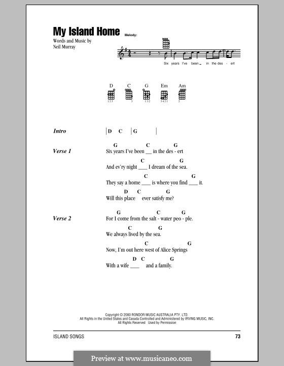 My Island Home (Christine Anu): For ukulele by Neil Murray