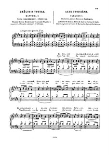 Fragments: Act III. Version for piano by Modest Mussorgsky