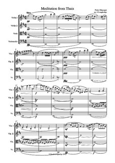Meditation: For string quartet by Jules Massenet