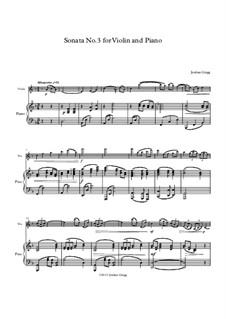 Sonata No.3 for Violin and Piano: Sonata No.3 for Violin and Piano by Jordan Grigg