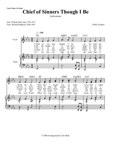 Chief of Sinners Though I Be: Piano-vocal score by Richard Redhead