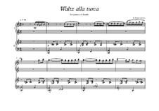 Waltz Alla Turca for piano 4 hands: Waltz Alla Turca for piano 4 hands by Peter Petrof