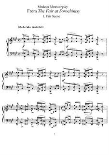 The Fair and Gopak: For piano by Modest Mussorgsky