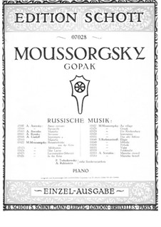 Gopak: For piano by Modest Mussorgsky