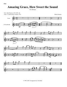 Amazing Grace: Instrument parts by folklore