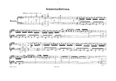 Ein Sommernachtstraum (Midsummer Night's Dream), Op.21: Overture, for piano four hands by Felix Mendelssohn-Bartholdy