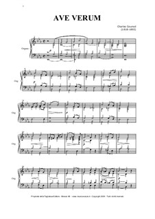 Ave Verum: For organ by Charles Gounod