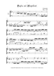 Magnificats (Collections): Magnificat Quarti Toni, No.2, 5. Magnificat Sexti Toni, No.3, 10 by Johann Pachelbel